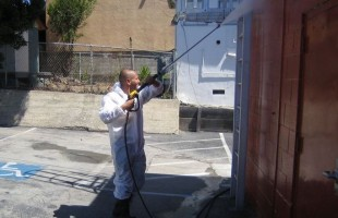 Pressure Washing An Apartment Building in San Francisco